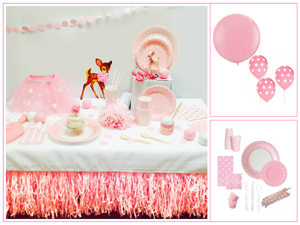 Pretty Pink and White Polka Dot Party in a Box for 8
