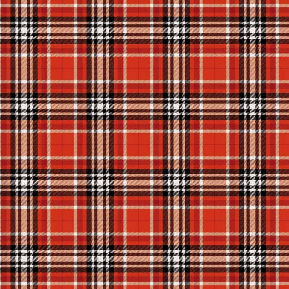 Red And Black Plaid Luncheon Paper Napkins