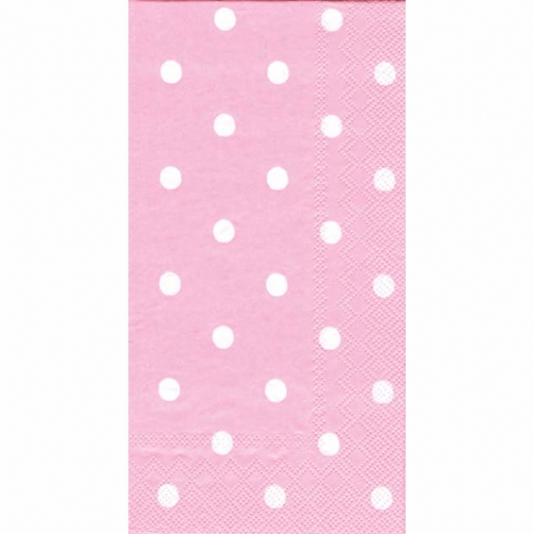 Pink And White Polka Dot Buffet Guest Paper Towels Modern