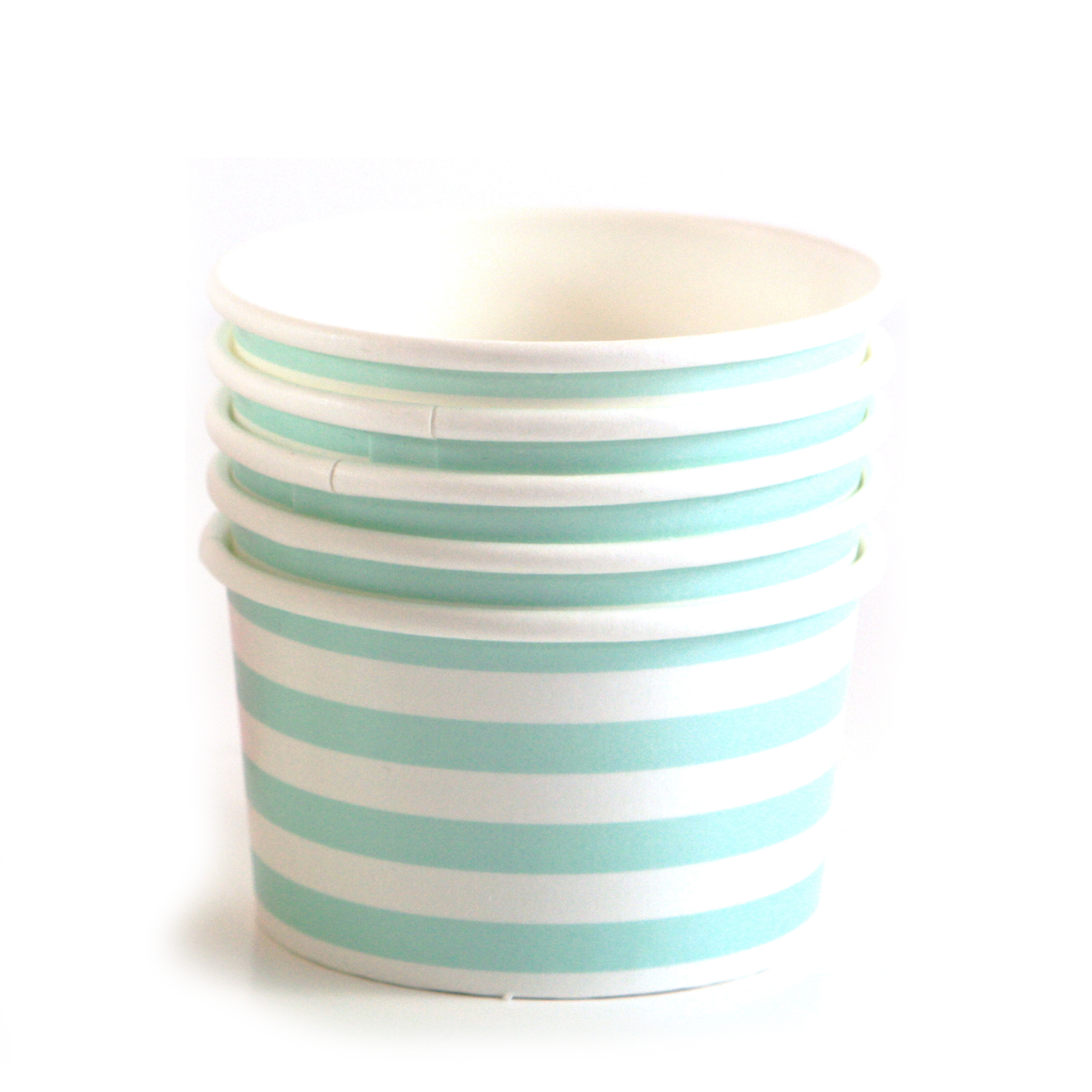 Blue And White Stripe Ice Cream Paper Cups Modern Lola