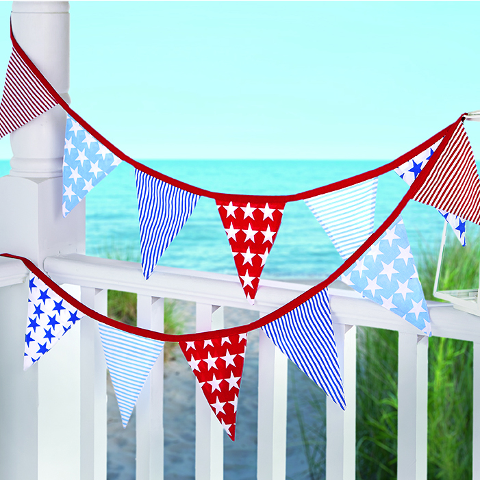 Stars And Stripes Fabric Flag Banner Modern Lola