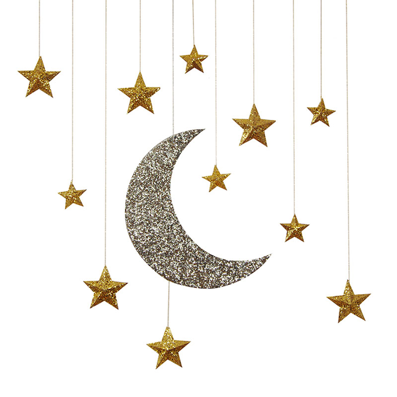 Hanging Moon And Stars Decorations: MODERN LOLA