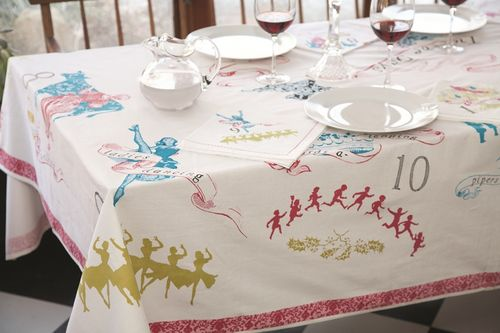 12 Days Of Christmas Tablecloth Modern Lola