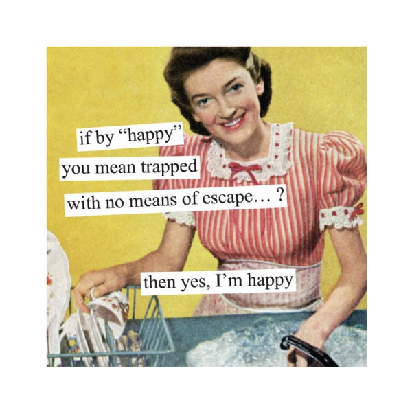 If By Happy You Mean Trapped Napkins Modern Lola