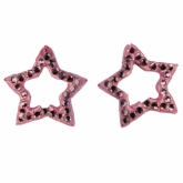 Pink Star Rhinestones Set of 2