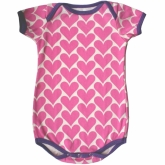 Pink Hearts Onesie by kit + lili