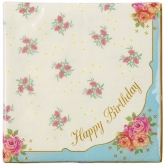 Truly Scrumptious Happy Birthday Luncheon Paper Napkins