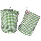 Lime and White Check Organizing Vinyl Pouch