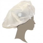 I Do White Flowers Shower Cap