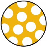 Yellow and White Polka Dots Dinner Paper Plates
