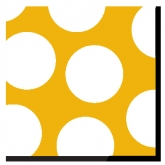 Yellow and White Polka Dots Luncheon Paper Napkins