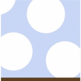 Spots Sky Blue and White Beverage Paper Napkins