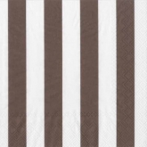 Wide Chocolate Brown and White Stripe Luncheon Napkins