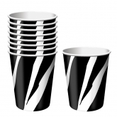 Black and White Zebra Hot/Cold Paper Cups