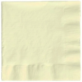 Solid Cream Luncheon Paper Napkins