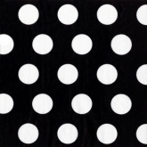 Black and White Big Dots Luncheon Paper Napkins