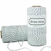 Oyster Grey and White Bakers Twine