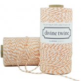Orange and White Bakers Twine