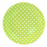 Lime and White Polka Dot Dinner Paper Plates