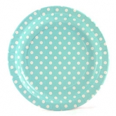 Baby Blue and White Polka Dot Dinner Paper Plates