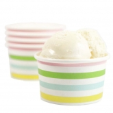 Candy Stripe Ice Cream Paper Cups