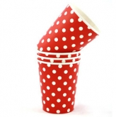 Red and White Polka Dot Paper Cups