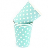 Baby Blue Polka Dot Paper Cups