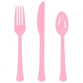 New Pink Extra Heavy Weight Cutlery Set of 20