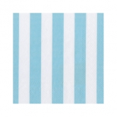 Baby Blue and White Stripe Beverage Paper Napkins