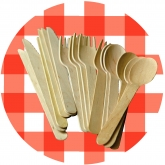Wooden Cutlery 6.5 inches Set of 20