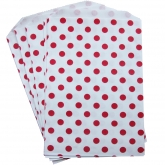 Red and White Polka Dot Treat Bags Set of 20