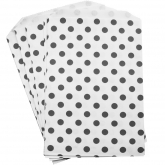 Black and White Polka Dot Treat Bags Set of 20