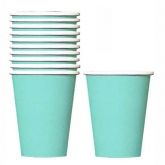 Robins's Egg Blue Paper Cups Set of 20