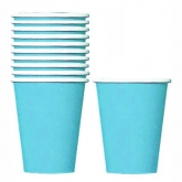 Caribbean Blue Paper Cups Set of 20