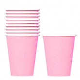 New Pink Paper Cups Set of 20