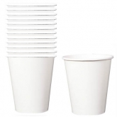 White Paper Cups Set of 24