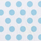 Baby Blue and White Polka Dot Luncheon Paper Napkins