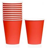 Apple Red Paper Cups Set of 20