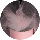 Light Pink Tulle Ribbon 55 YDS