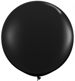Oversized Black 3ft Latex Balloon