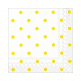 Yellow and White Polka Dot Beverage Napkins