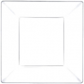Clear Square Plastic Classic Dinner Plates 9.5""