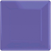 New Purple Square Dinner Paper Plates Set of 20