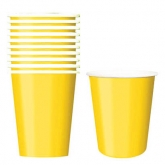 Sunshine Yellow Paper Cups Set of 20