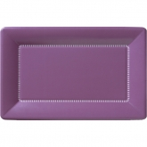 Purple Zing Large Rectangular Cafe Paper Plates