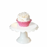 Petite Scalloped 5.5 Inch Cake Stand