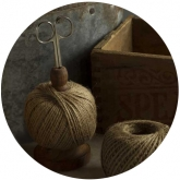 Jute Ball on Stand with Scissor