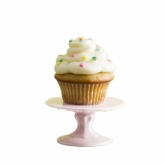 Pink Petite 4 Inch Porcelain Cupcake Stand