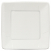 White Square Dinner Paper Plates Set of 20