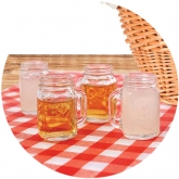 Mason Jar Shot Glasses Set of 4